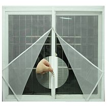 Mosquito nets for windows Self-adhesive zipper Easy Mosquito screens DIY Magic stickers simpleDoor and window screen Custom
