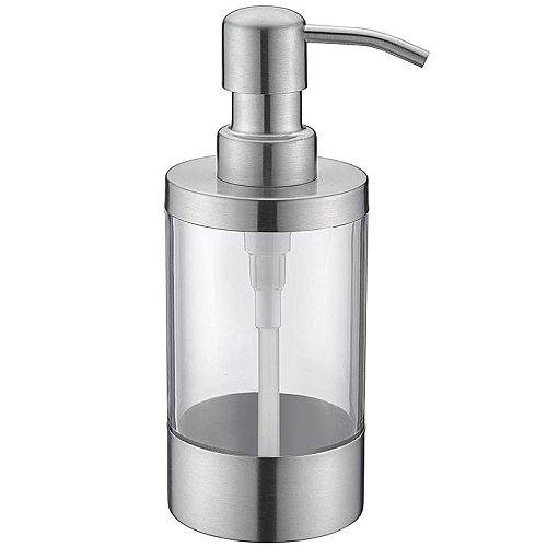Countertop Soap Dispensers Lotion Clear Bottle with Rust Proof Stainless Steel Pump, Lotion/Soap Dispenser for Kitchen or Bathro
