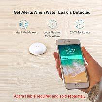 Aqara Water Immersing Sensor Flood Water Leak Detector For Home Remote Alarm Security Soaking Sensor Work With Gateway Mijia App