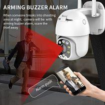 SDETER 4MP PTZ IP Camera Outdoor WIFI Speed Dome Wireless CCTV Security Camera Pan Tilt 4X Zoom Surveillance Siren Alarm Camera