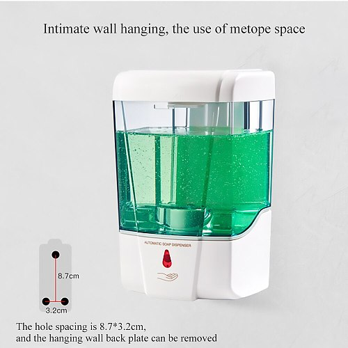 700ml Capacity Automatic Soap Dispenser Touchless Sensor Hand Sanitizer Detergent Dispenser Wall Mounted For Bathroom Kitchen