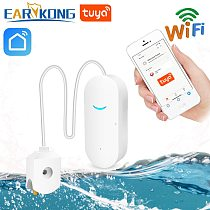 EARYKONG WiFi smart Tuya Water Leakage Sensor Tuya Water Alarm Compatible With Tuyasmart / Smart Life APP Easy Installation
