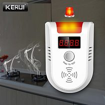 KERUI GD13 LPG GAS Detector Alarm Wireless Digital LED Display Natural Leak Combustible Gas Detector For Home Alarm System