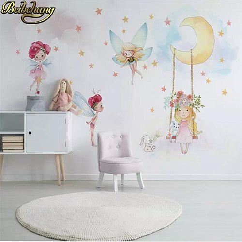 beibehang Custom 3D Photo mural Wallpaper Mural Living Room Home Decor Nordic Elf Girl Painting Wall Paper for Children's room