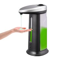 400ML Touchless Liquid Soap Dispenser Automatic Sensor Shampoo Detergent Dispenser Pump Soap Container for Bathroom Kitchen