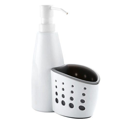 2-in-1 Kitchen Soap Dispenser Pump And Sponge Caddy Organizer Liquid Soap Dispenser Bottle