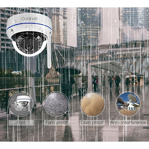 Gadinan Wifi Camera Yoosee APP ONVIF IP Camera 2.0MP 1080P Microphone Audio Night Vision Vandal-proof SD Card Outdoor Camera