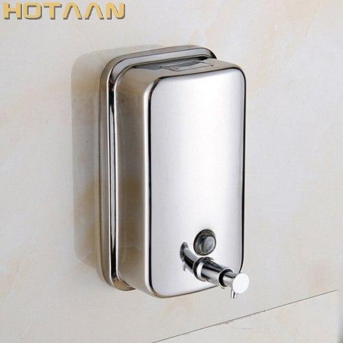 500ml Wall Mounted Stainless Steel Finished Liquid Soap Dispenser Bathroom Soap Dispenser Box Soap/Shampoo Dispenser YT-2013