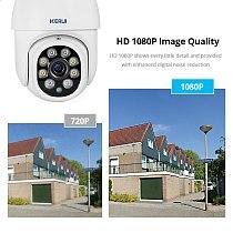 KERUI 1080P PTZ Wifi IP Camera Outdoor 4X Digital Zoom AI Detect Wireless Camera H.265 P2P ONVIF Audio 2MP Security CCTV Camera