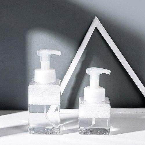 XZJJA 250ml/400ml Clear Foam Bottle Liquid Soap Dispensers Shampoo Lotion Shower Gel Foam Pump Bottles Mousse Points Bottling