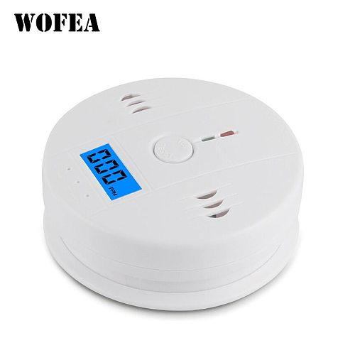 wofea LCD CO Sensor Work alone Built in 85dB siren sound Independent Carbon Monoxide Poisoning Warning Alarm Detector