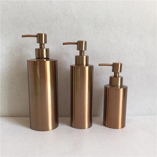 Rose Gold Soap Dispenser Liquid Soap Dispenser Bottle  Lotion Bottle 350ml/550ml/800ml Soap Saver stainless steel