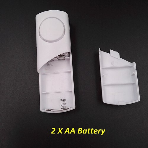Independent Wood Door Alarm Sensor Window Detector With 90Db Buzzer Burglar Security Alarm System AAA Battery