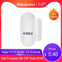 KERUI 433mhz Wireless Mini Small Micro Home Security Door Window Sensor Detector Anti-Tamper For GSM WIFI Alarm System