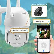 1080P Outdoor PTZ IP Camera Auto Tracking 2MP Cloud Home Security Wifi Camera 4X Digital Zoom Speed Dome Camera with Siren Light