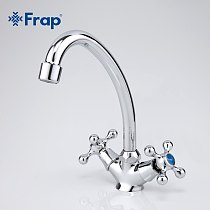 Frap Classic style kitchen mixer tap Double handle Sink  bend faucet Torneira Cozinha 360 degree rotation kitchen accessoryF4908