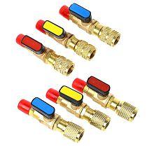 1pc R410A Refrigerant Valve AC Charging Hoses Brass Straight Ball Valves for Refrigeration Manifold Gauges