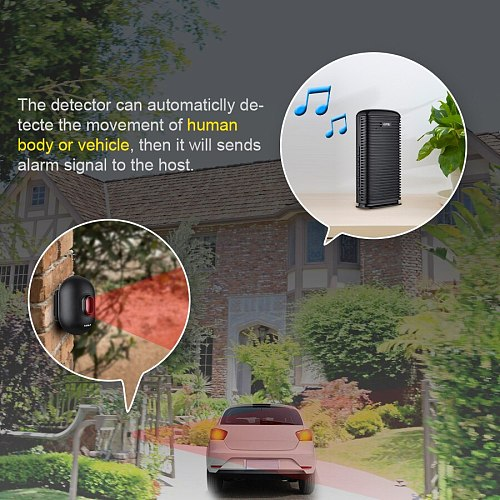 KERUI DW9 Wireless Driveway Security Alarm Waterproof PIR Motion Detector Garage Welcome Burglar Alarm Secure System Patrol