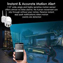 SDETER 3MP Security WIFI Camera Outdoor 1080P PTZ Speed Dome Wireless IP Camera CCTV Pan Tilt 4XZoom IR Network Surveillance P2P