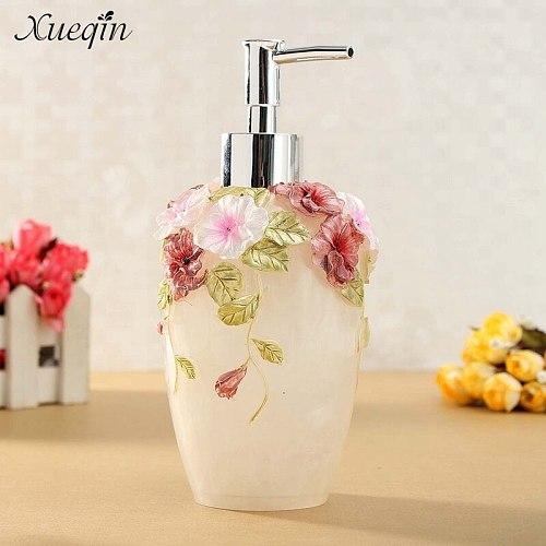 Xueqin 350ml Luxurious Liquid Soap Dispenser Pump Lotion Refillable Empty Bottle for Home Hotel Bathroom Kitchen Decor