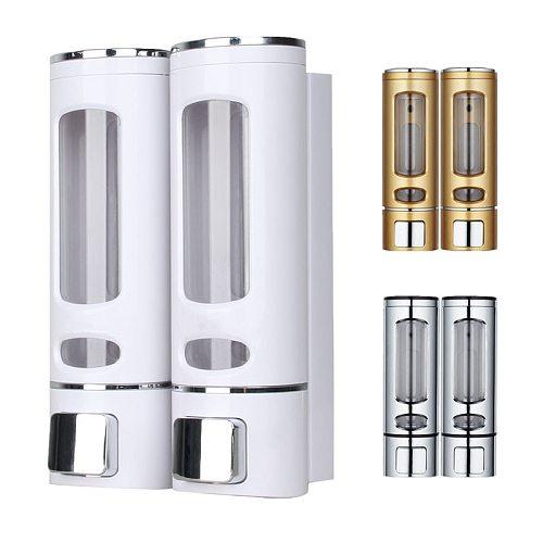 Single/Double 400ml Soap Dispenser Wall-mount Shower Bath Shampoo Dispenser Liquid Soap Container Bathroom Washroom Accessories