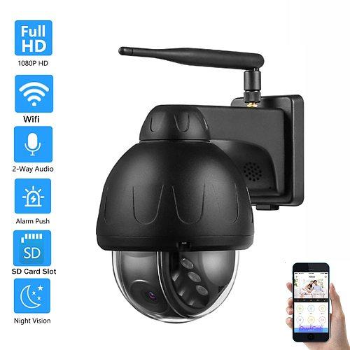 5MP Auto Tracking IP Camera Wifi Outdoor Dome Wireless Security Pan Tilt Rotate SD Card Network CCTV Surveillance Audio Talk P2P