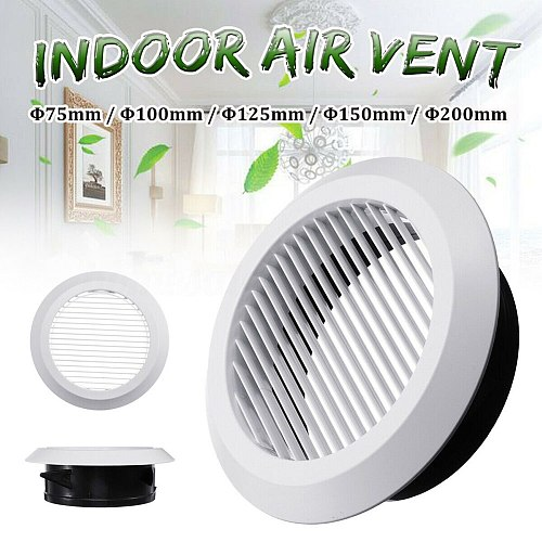 Newly Air Vent Grille Circular Indoor Ventilation Outlet Duct Pipe Cover Cap XSD88
