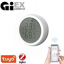 ZigBee Smart Temperature And Humidity Sensor LED Screen Thermometer Amazon Alexa Google Home High/low Alarm Tuya Smart Home