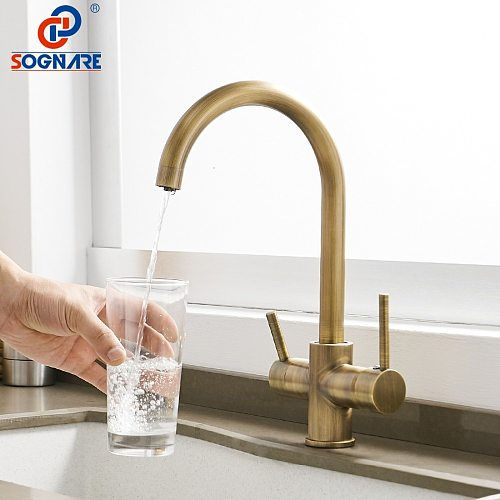 Kitchen Sink Faucet for Kitchen Mixer Drinking Water Faucet Water Filter Sink Mixer Tap 360 Degree Rotation Mixer Cold and Hot