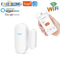 Tuya Smart WiFi Door Sensor Door Open / Closed Detectors Wifi Home Alarm Compatible With Alexa Google Home  Tuya APP