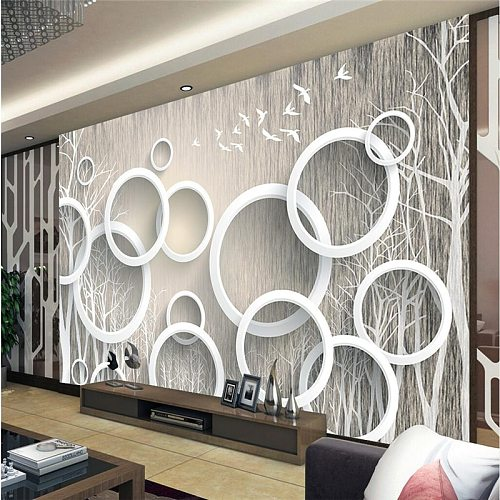 beibehang papel de parede 3D Custom photo Wallpaper 3D Mural Wall paper Stickers Art Abstract Woods 3D Living Room TV Walls roll