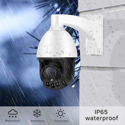 BESDER 4X Auto Zoom IP Camera PTZ Outdoor Waterproof XMEye Speed Dome CCTV Camera 2MP SONY IMX323 Surveillance PTZ Camera 1080P