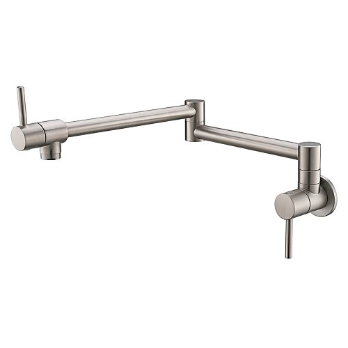 Foldable Kitchen Faucet Single Cold Single Hole Pot Filler Tap Wall Mounted  Sink Tap Rotate Folding Spout Chrome Gold Brass
