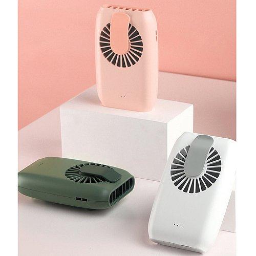Hanging waist fan USB charging hanging neck fan mini handheld multi-function portable desktop small fan