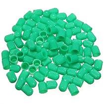 100pcs Plastic Valve Caps Tire Cap Valve Cover for Car Motorcycle green
