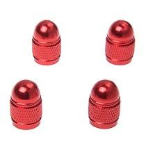 4pc new valve cap tire pressure cap wheel cover dust Xelo rod for Auto Car - red
