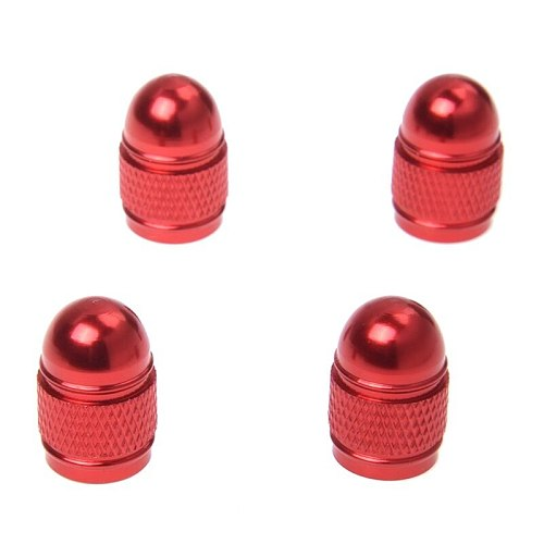 4pc new valve cap tire pressure cap wheel cover dust Xelo rod for Auto Car - red