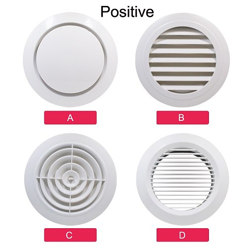 Kitchen Air Vent Bathroom Central Air Conditioning Cooling Ventilation Cover Exhaust Fan Ceiling Wall Mount Air Outlet Grille