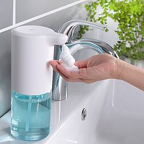350ml Touchless Bathroom Dispenser Smart Sensor Liquid Soap Dispenser for Kitchen Hand Free Automatic Soap Dispenser