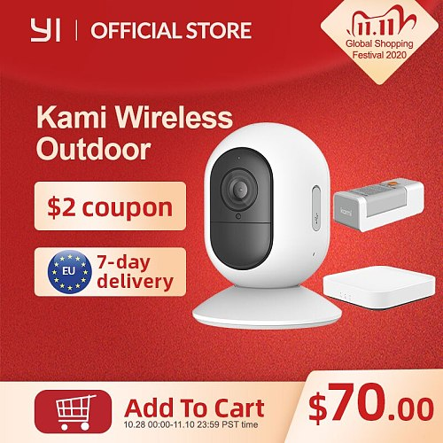Kami Wireless Indoor & Outdoor Camera Kit 1080P Ip Camera  Wi-Fi Rechargeable Battery Security Camera 3month free cloud Service