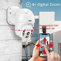 Hiseeu H.265 1080P POE PTZ IP Camera 4X Digital ZOOM 2MP CCTV IP Camera ONVIF for POE NVR System Waterproof Outdoor 48V