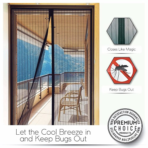 210 X 100cm Summer Mesh Net Anti Mosquito Insect Fly Bug Curtain Automatic Closing Door Screen Kitchen Curtain Drop Shipping