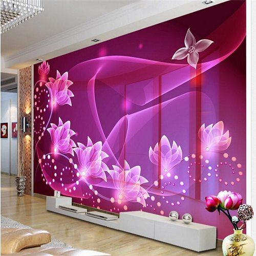 beibehang Custom Photo Wallpaper Mural Wallpaper 3D Dream Transparent Flower TV Wall Wall Decorative Painting papel de parede