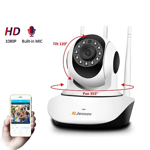 HD 1080P 2MP Home Security IP Camera Wireless PTZ Mini Video Surveillance Camera Wifi Camara Pet CCTV IR Baby Monitor Audio Set