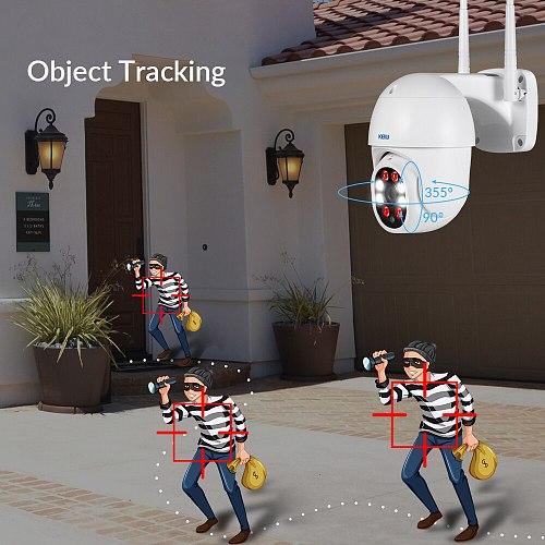 KERUI HD 1080P Wifi IP Camera Home Security Outdoor PTZ Surveillance Cameras Full Color Night Vision Motion Detection Alarm