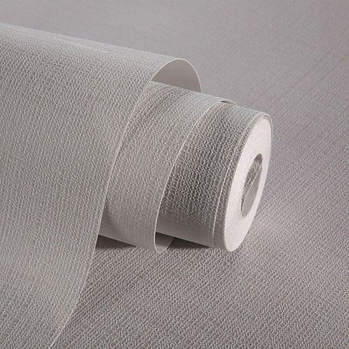 Brief Style Plain Classic Straw Design Coffee Black Grey Beige Solid Non Woven Wall Paper Wallpapers Roll For Office Home Decor
