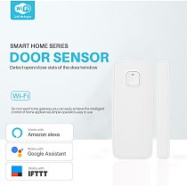 Tuya smartlife WIFI Door / Window Detector WiFi App Notification Alerts  Security Sensor support alexa google home no need hub