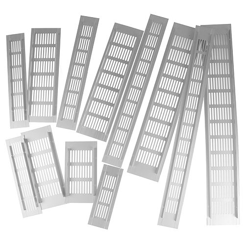 15-50mm Vents Perforated Sheet Aluminum Alloy Air Vent Perforated Sheet Web Plate Ventilation Grille Vents Perforated Sheet