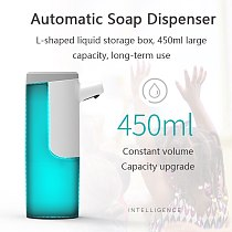 450ML Automatic Soap Dispenser Hand Free Touchless Sanitizer Intelligent Induction Foam Dispenser For Kitchen Bathroom