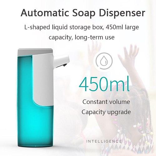 450ML Automatic Soap Dispenser Hand Free Touchless Sanitizer Intelligent Induction Foam Dispenser For Kitchen Bathroom